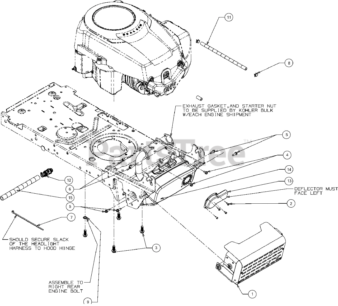 Troy Bilt Parts On The Engine Accessories Diagram For