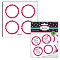SALE Sticker Candy rund, rot, Ø 5,1 cm, 20 Stk.