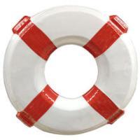 Wand-Deko Rettungsring aus Plastik, weiß/rot