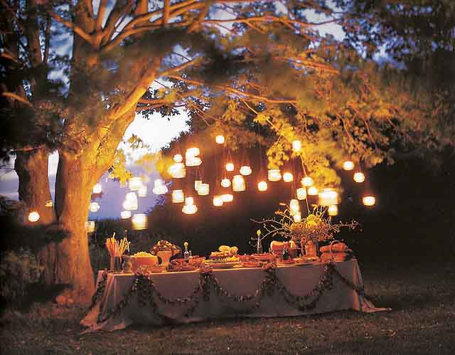 jar lanterns garden party lighting