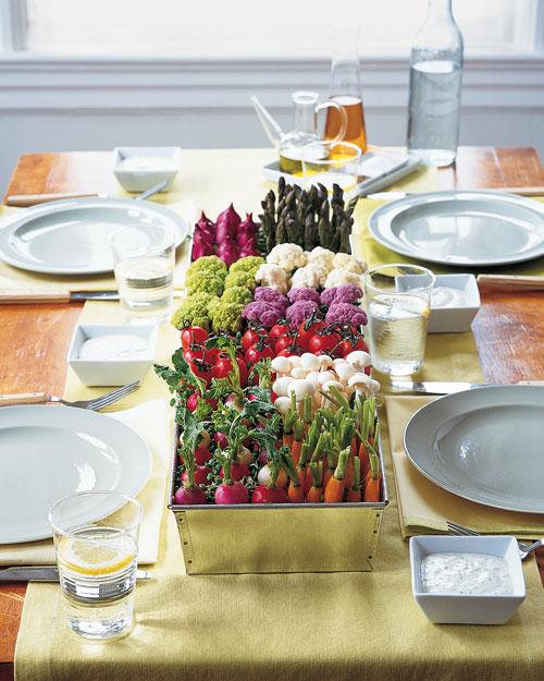 vegetable centerpiece vegetable table decorations