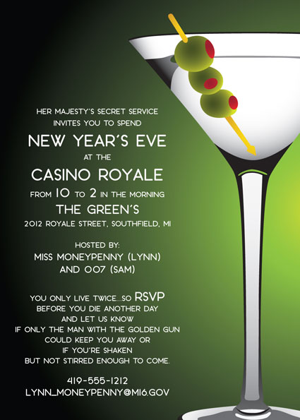 casino royale theme new year poster