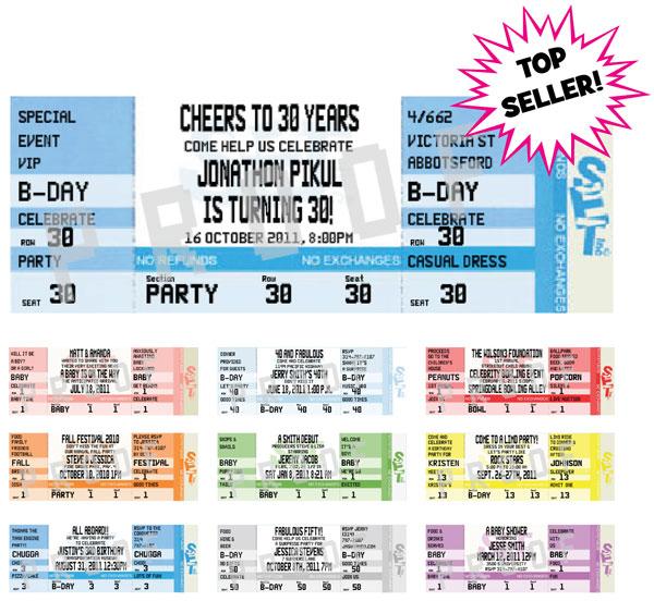 concert ticket free printable concert ticket invitations
