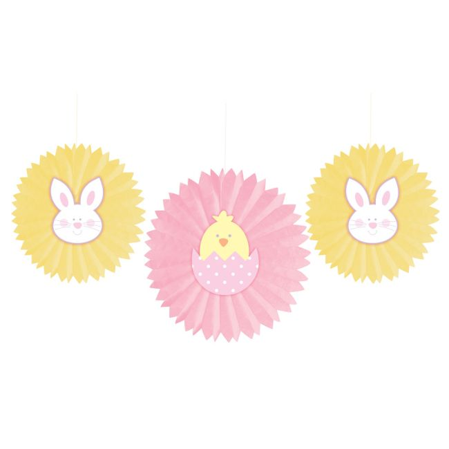 Easter Bunny Amp Chick Tissue Fans WHeart Attachment
