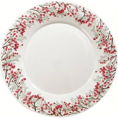 Milan 1025 Inch Holiday Winter Berries Plastic Plates