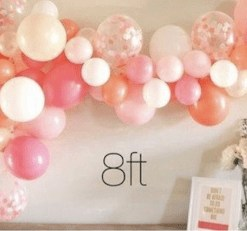 balloon garland organic 8ft