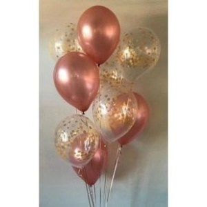 PARTY BALLOONSBYQ ROSE-GOLD-AND-CONFETTI-BOUQUET GALLERY
