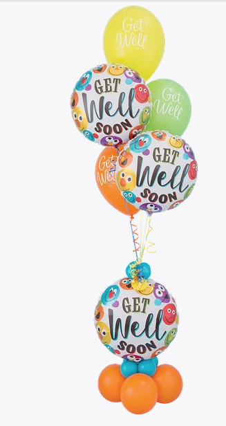 get well smiley bouquet