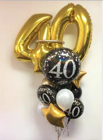 SPARKLING 40 BIRTHDAY BOUQUET DELUXE