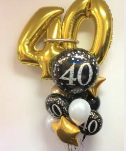 SPARKLING 40 BIRTHDAY BOUQUET DELUXE