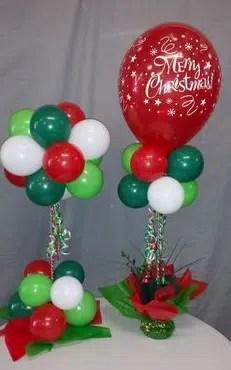 Christmas Balloon Topiary Centerpiece