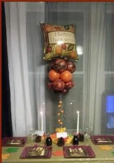 Thanksgiving balloon centerpiece