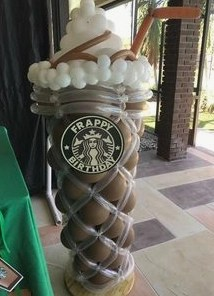 Frappe Balloon Sculpture