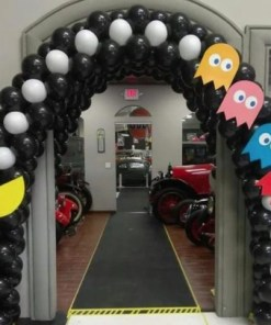 Pac Man Balloon Arch