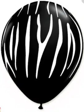 black zebra print latex