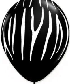 black zebra print latex