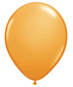 Orange Latex Balloon