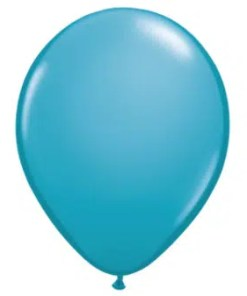 Tropical Teal Latex Balloon