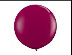 Burgundy Latex Balloon
