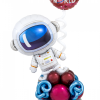PARTY BALLOONSBYQ valentineastronaut-e1609113085413 Red Heart Balloon Bouquet