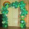 PARTY BALLOONSBYQ ST-PATRICKS-DAY-BALLOON-GARLAND Safari Green Balloon Garland