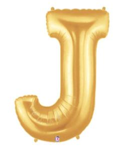 Letter Balloon J Gold