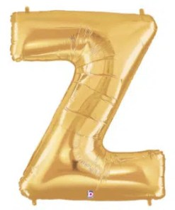 Balloon Letter Z Gold