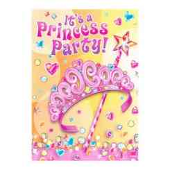 Kids Party Pretty Princess Invitations