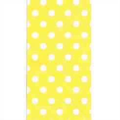 Yellow Polka Dot Paper Party Bags - Gift Bags UK