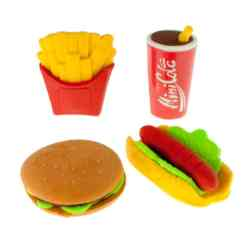 Party Food Rubbers – Novelty Erasers