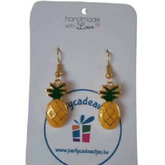 Oorbellen Ananas goudkleurig