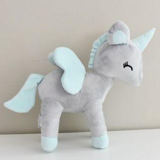 Metoo Unicorn grijs met munt vleugels