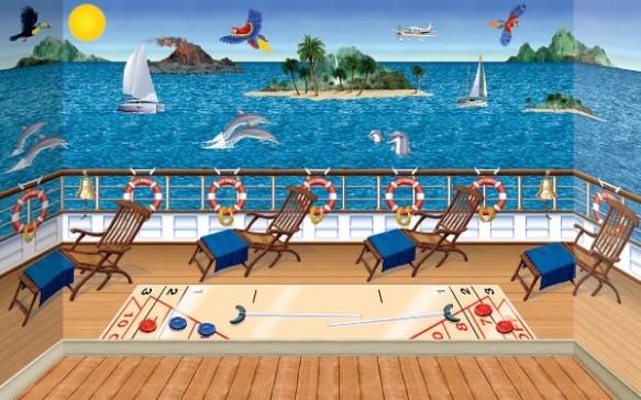 Tropical Cruise Ship Scene Setter