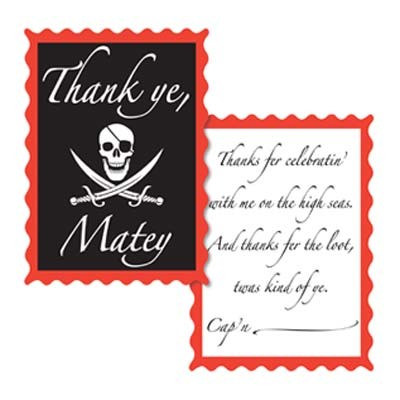 Pirate Thank You Notes PartyCheap