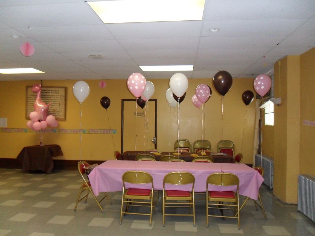 Baby Shower Brown Pink And White Party Decorations By Teresa