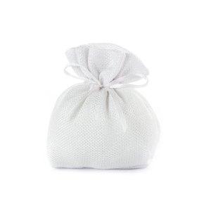 sacchetto juta bianco piccolo matrimonio