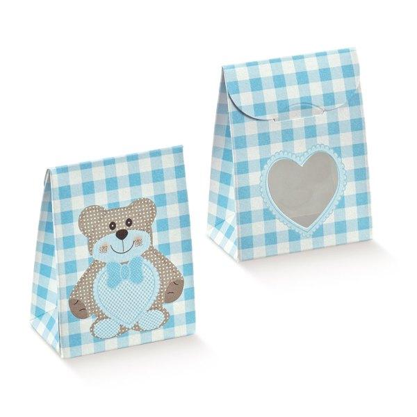 Sacchetto Ted bear Azzurro (10 pezzi)-0