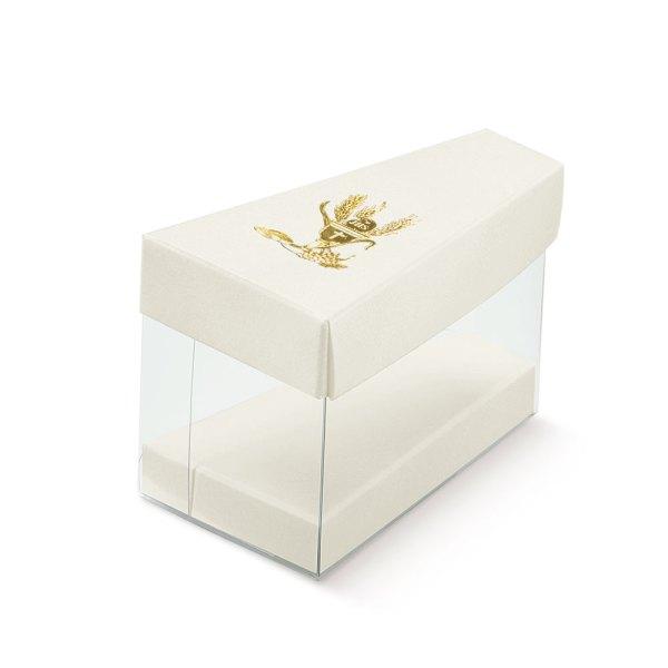 Fetta torta con coperchio Prima Comunione | Signum Oro (10 pezzi)-0