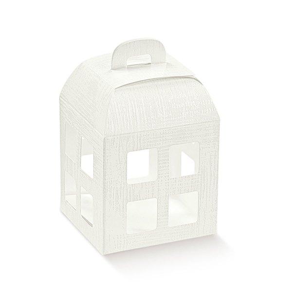 Lanterna tela bianco 8 X 8 X 10,5 CM   (10 pezzi)-0