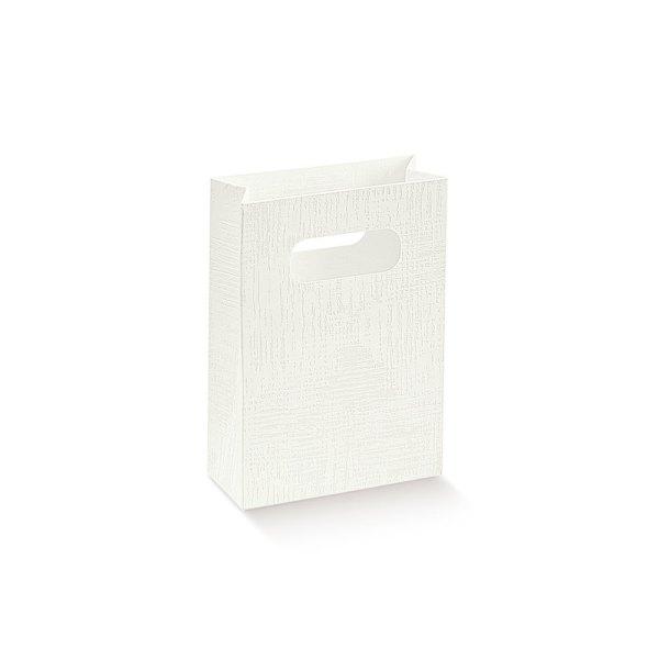 Shopper tela bianca medio H 18 CM (10 pezzi)-0