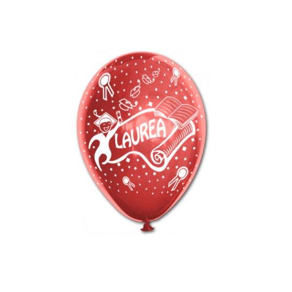 """Palloncino Laurea Rosso 12""""/30,5 cm. (100 Pezzi)-0"""