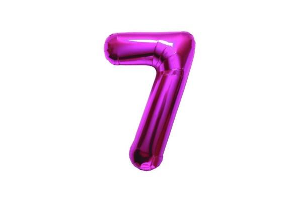 "Numero 7 Foil Gigante H 40""/100 cm. Fuxia (5 pezzi)-0"