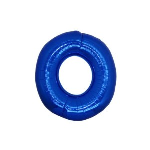 "Numero 0 Mylar Medio H 14""/36 cm Blu (5 Pezzi)-0"