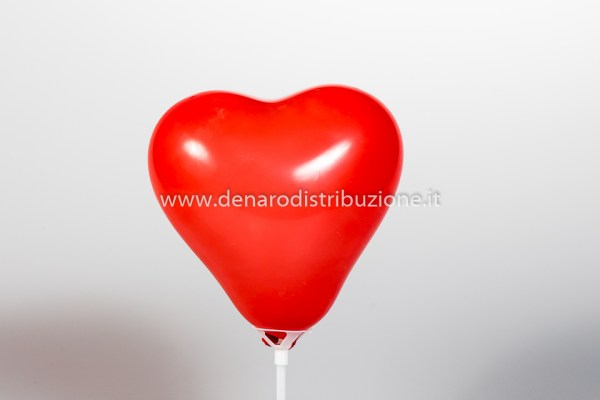 """Palloncino Cuore Rosso Scuro Pastello 5""""/13 cm. (100 Pezzi)-0"""
