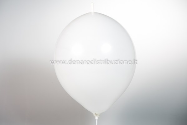 "Palloncino Tondo Link Bianco Pastello 14""/35 cm. (100 Pezzi)-0"