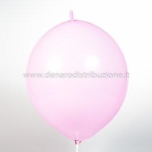 "Palloncino Tondo Link Rosa Pastello 14""/35 cm. (100 Pezzi)-0"