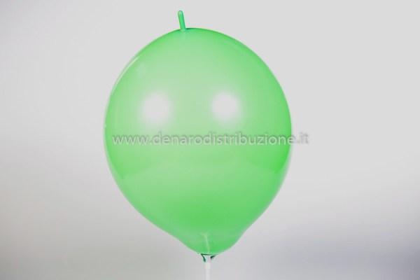 "Palloncino Tondo Link Verde Medio Pastello 14""/35 cm. (100 Pezzi)-0"