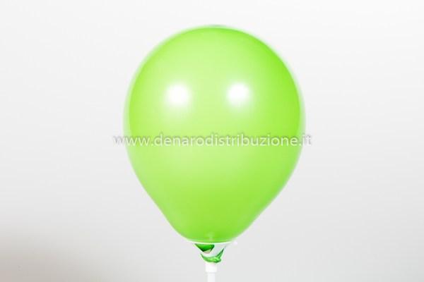 """Palloncino Tondo Verde Medio Pastello 5""""/13 cm. (100 Pezzi)-0"""