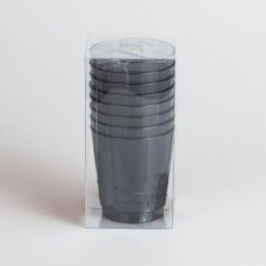 Bicchieri Grigio fumè | Plastic & Chic 8 pezzi-0