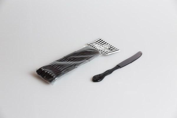 Coltelli Plastica Grigio Fumè | Plastic & Chic 10 pezzi-0